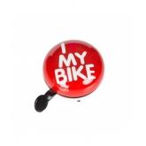 Дзвоник Green Cycle GCB-1058S I love my bike, червоний, 80мм