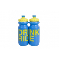 Фляга Green Cycle Drink & Ride 600 мл синьо-жовта