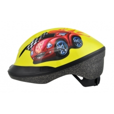 Шлем детский FUNN 2.0 жовт Red Car, разм 48-54см
