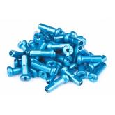 Ніпелі FireEye ALU 7075 2/14мм алюміній 38 шт. блакитний