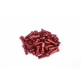 Ніпелі FireEye ALU 7075 2/14мм алюміній 38 шт. червоні