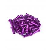 Ніпелі FireEye ALU 7075 2/14мм алюміній 38 шт. фіолетові