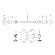 """Кульки передної втулки Shimano (3/16"""") комплект 20 шт."""