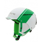 Шолом лижний Alpina SPAM CAP white-green matt
